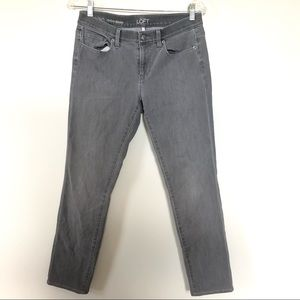 Ann Taylor Loft Jeans Size 28 6 Skinny Faded Gray